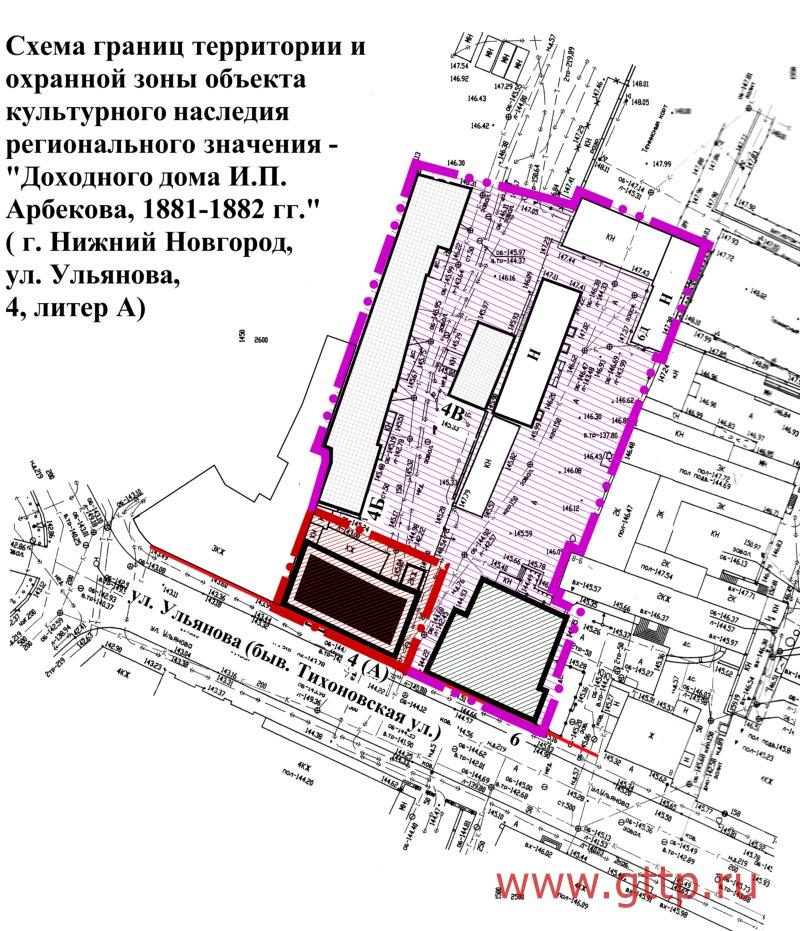 Схема границ территории и