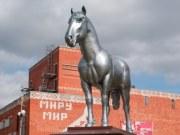 Памятник жеребцу Капралу в Починках, фото Владимира Бакунина